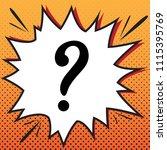 question mark sign. vector.... | Shutterstock .eps vector #1115395769