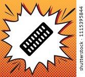 medical pills sign. vector.... | Shutterstock .eps vector #1115395844