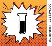 medical tube icon. laboratory... | Shutterstock .eps vector #1115396000