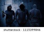 gang of robbers or burglars...