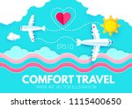 traveling by plane. airplane in ... | Shutterstock .eps vector #1115400650