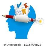 smart solutions  student of... | Shutterstock .eps vector #1115404823