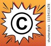 copyright sign illustration.... | Shutterstock .eps vector #1115411678