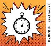 stopwatch sign illustration.... | Shutterstock .eps vector #1115411714
