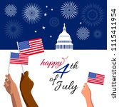 4th of july independence day... | Shutterstock .eps vector #1115411954