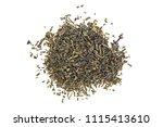 heap of chinese green tea  top... | Shutterstock . vector #1115413610