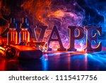 popular vaping device mod. vape.... | Shutterstock . vector #1115417756