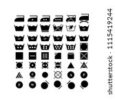 set of laundry dry icons | Shutterstock .eps vector #1115419244