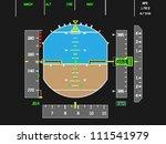 digital airplane instruments... | Shutterstock .eps vector #111541979