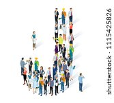 crowded isometric people vector ... | Shutterstock .eps vector #1115425826