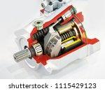 adjustable axial piston pump of ... | Shutterstock . vector #1115429123