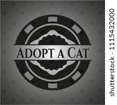 adopt a cat realistic black... | Shutterstock .eps vector #1115432000