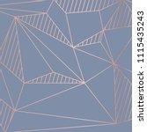 illustration  gold line... | Shutterstock .eps vector #1115435243