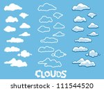 clouds | Shutterstock .eps vector #111544520