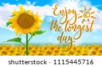 enjoy the longest day  ... | Shutterstock .eps vector #1115445716