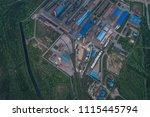 aluminum metallurgical plant... | Shutterstock . vector #1115445794