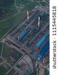 aluminum metallurgical plant... | Shutterstock . vector #1115445818