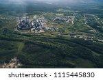 aluminum metallurgical plant... | Shutterstock . vector #1115445830