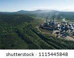 aluminum metallurgical plant... | Shutterstock . vector #1115445848