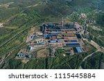 aluminum metallurgical plant... | Shutterstock . vector #1115445884