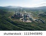 aluminum metallurgical plant... | Shutterstock . vector #1115445890