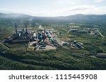 aluminum metallurgical plant... | Shutterstock . vector #1115445908