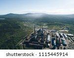 aluminum metallurgical plant... | Shutterstock . vector #1115445914