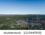 aluminum metallurgical plant... | Shutterstock . vector #1115445920
