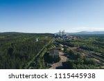 aluminum metallurgical plant... | Shutterstock . vector #1115445938