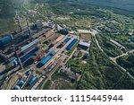 aluminum metallurgical plant... | Shutterstock . vector #1115445944