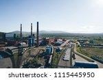 aluminum metallurgical plant... | Shutterstock . vector #1115445950