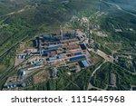 aluminum metallurgical plant... | Shutterstock . vector #1115445968