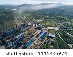aluminum metallurgical plant... | Shutterstock . vector #1115445974