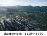 aluminum metallurgical plant... | Shutterstock . vector #1115445980
