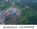 aluminum metallurgical plant... | Shutterstock . vector #1115445998
