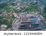 aluminum metallurgical plant... | Shutterstock . vector #1115446004