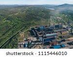 aluminum metallurgical plant... | Shutterstock . vector #1115446010
