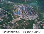 aluminum metallurgical plant... | Shutterstock . vector #1115446040