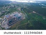 aluminum metallurgical plant... | Shutterstock . vector #1115446064