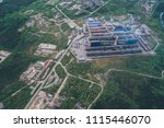 aluminum metallurgical plant... | Shutterstock . vector #1115446070