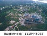 aluminum metallurgical plant... | Shutterstock . vector #1115446088
