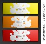banner background. modern... | Shutterstock .eps vector #1115446724