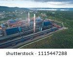 aluminum metallurgical plant... | Shutterstock . vector #1115447288
