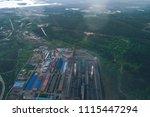 aluminum metallurgical plant... | Shutterstock . vector #1115447294