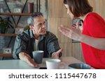 grey haired man. mature grey... | Shutterstock . vector #1115447678