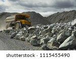 heavy mining dump truck in a... | Shutterstock . vector #1115455490