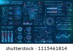 futuristic hud design elements. ... | Shutterstock .eps vector #1115461814