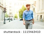 young handsome and confident... | Shutterstock . vector #1115463410