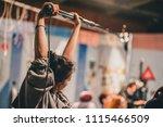 actor behind the scene. sound... | Shutterstock . vector #1115466509