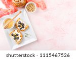 toast crostini with fresh... | Shutterstock . vector #1115467526